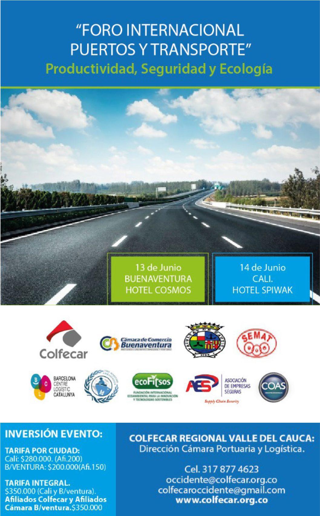 Foro Internacional de Puertos y Transporte será realizado por Colfecar occidente